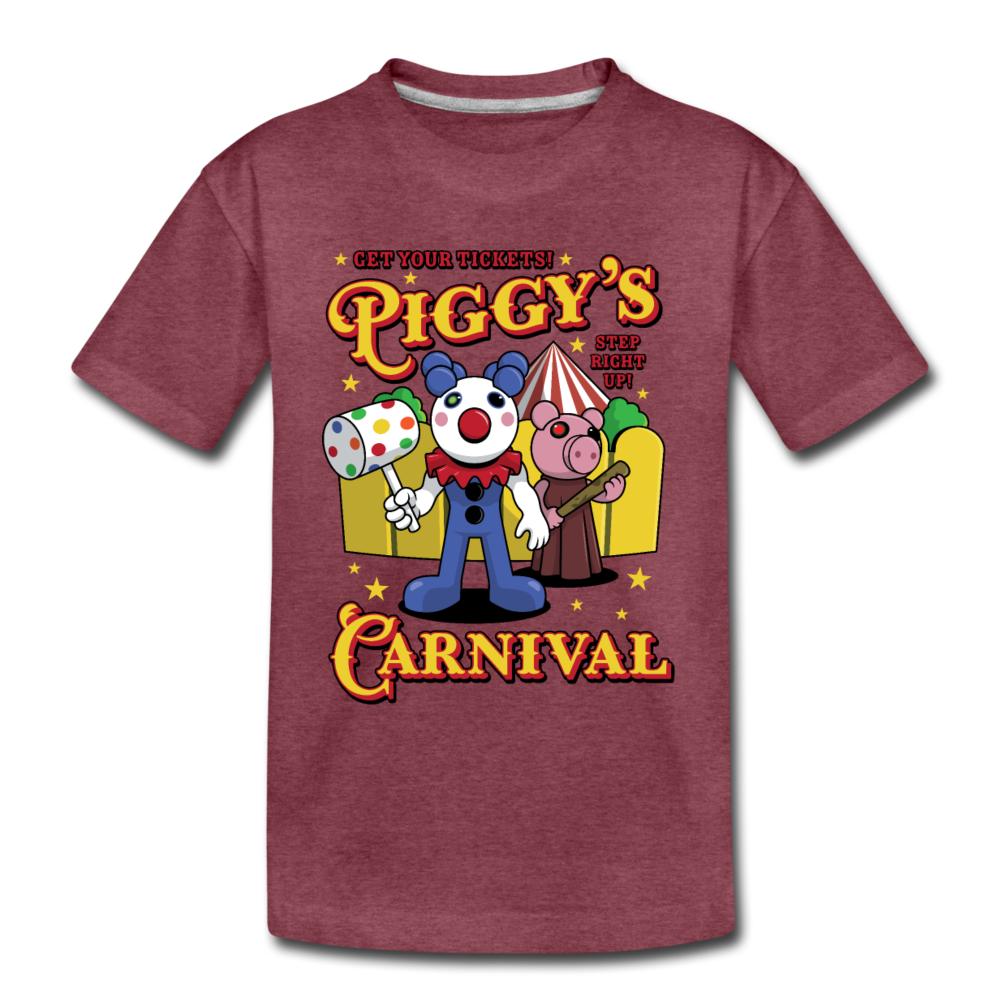 Piggy's Carnival T-Shirt - heather burgundy