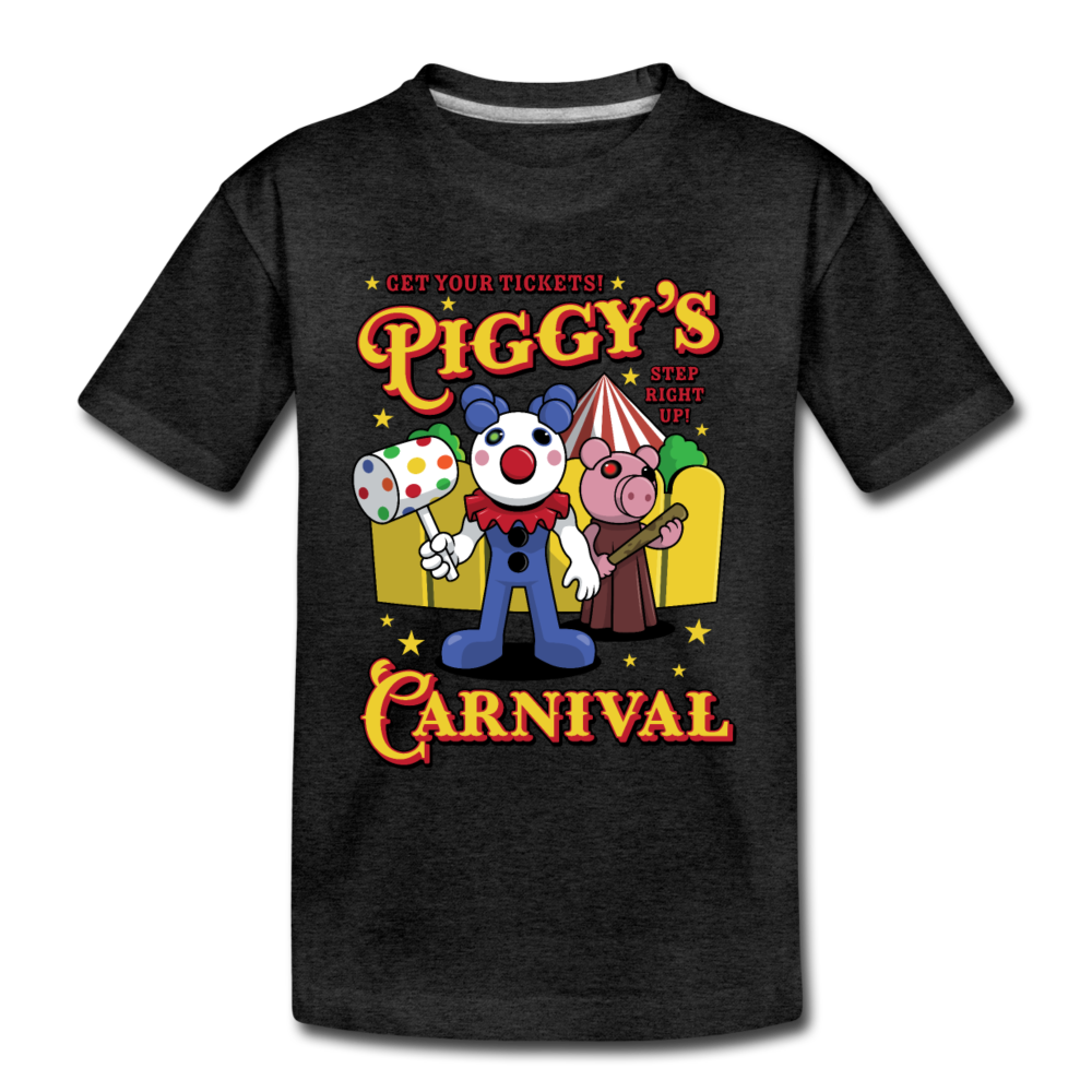 Piggy's Carnival T-Shirt - charcoal gray