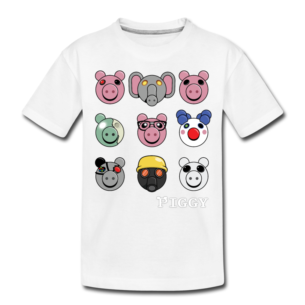 Piggy Faces T-Shirt - white