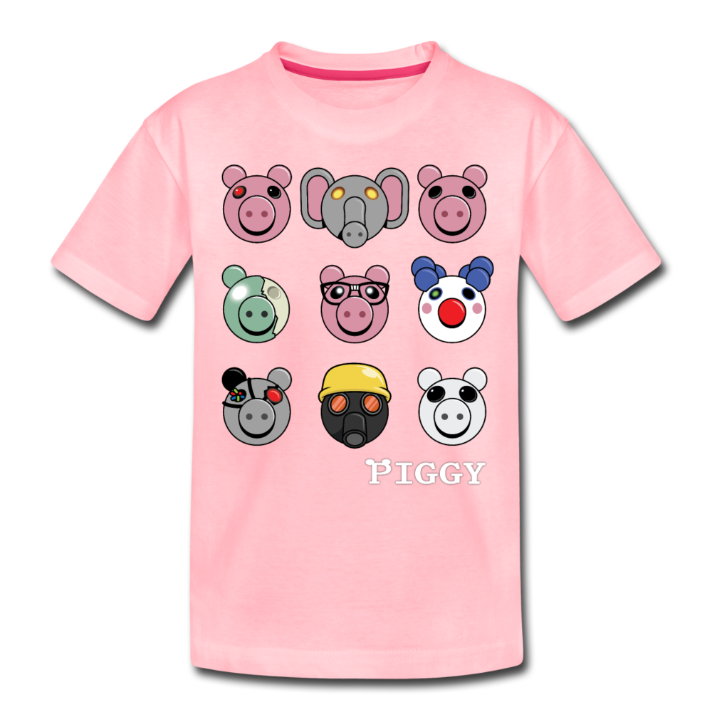 Piggy Faces T-Shirt - pink