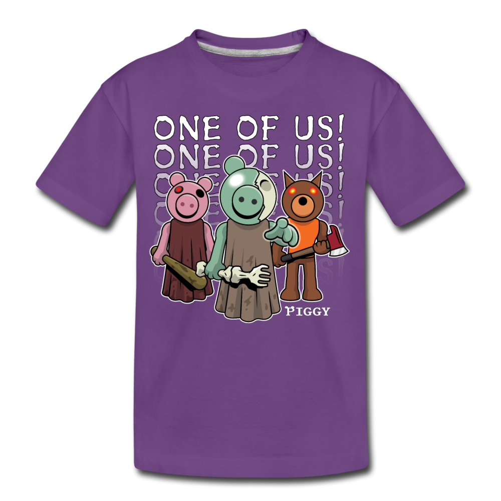 Piggy One Of Us! T-Shirt - purple