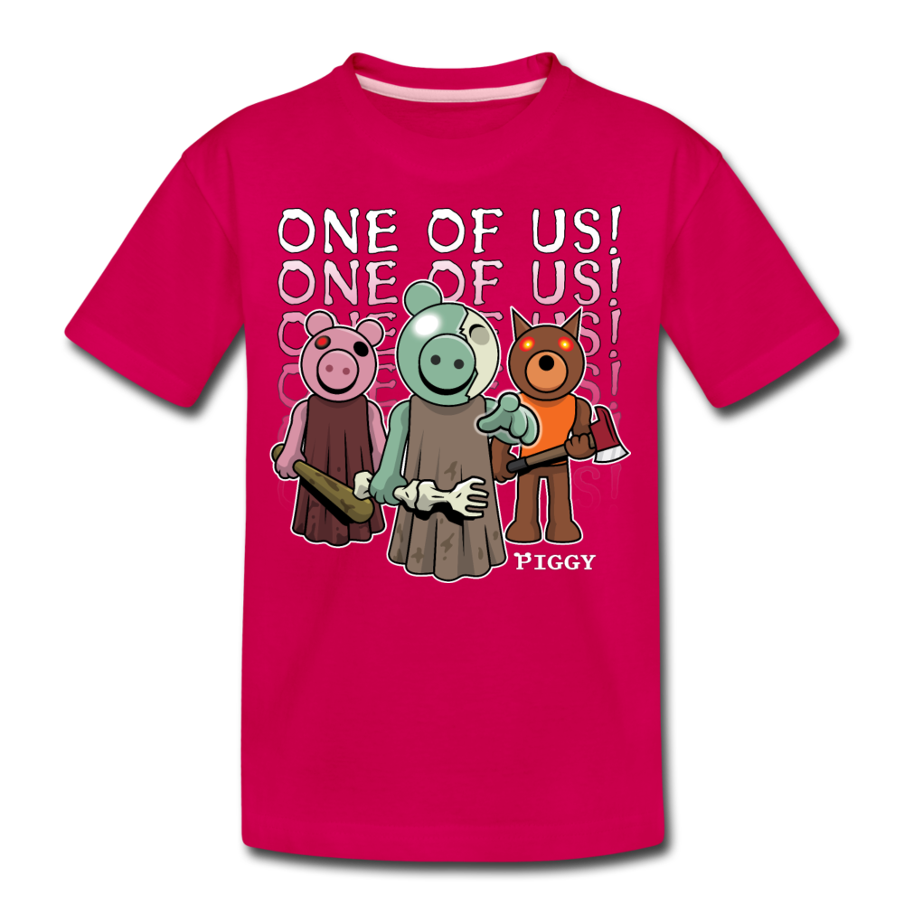 Piggy One Of Us! T-Shirt - dark pink