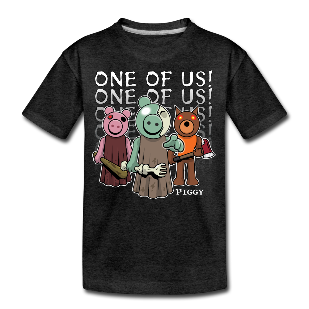 Piggy One Of Us! T-Shirt - charcoal gray