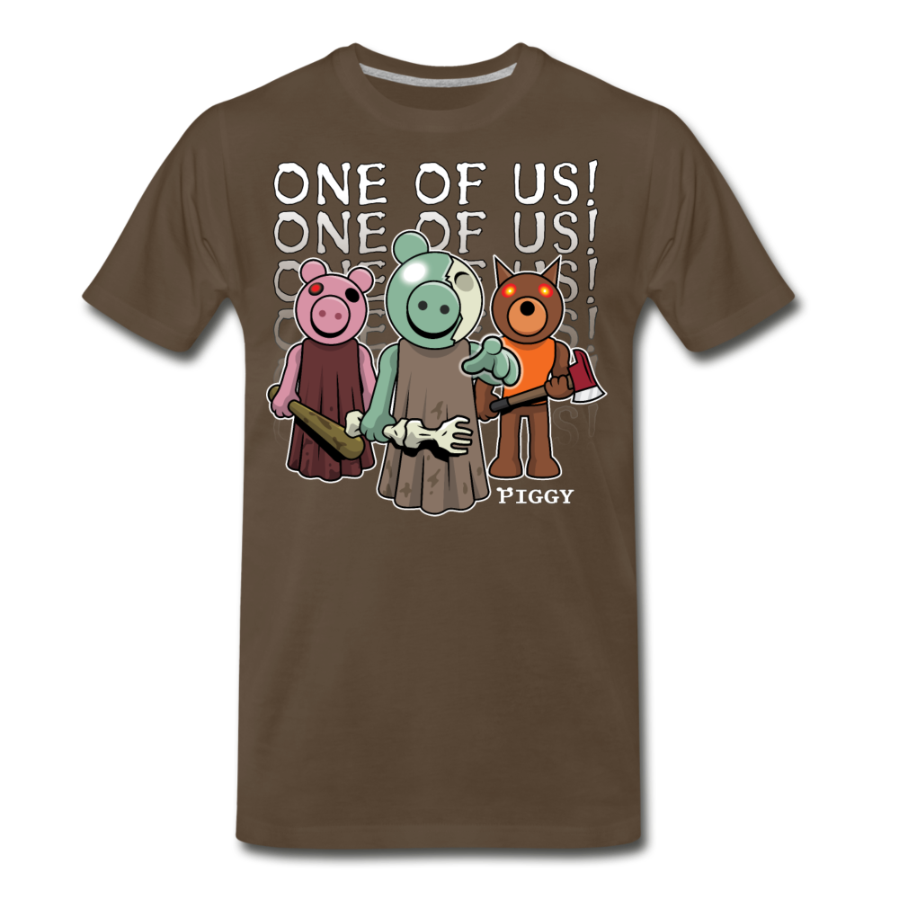 Piggy One Of Us! T-Shirt (Mens) - noble brown