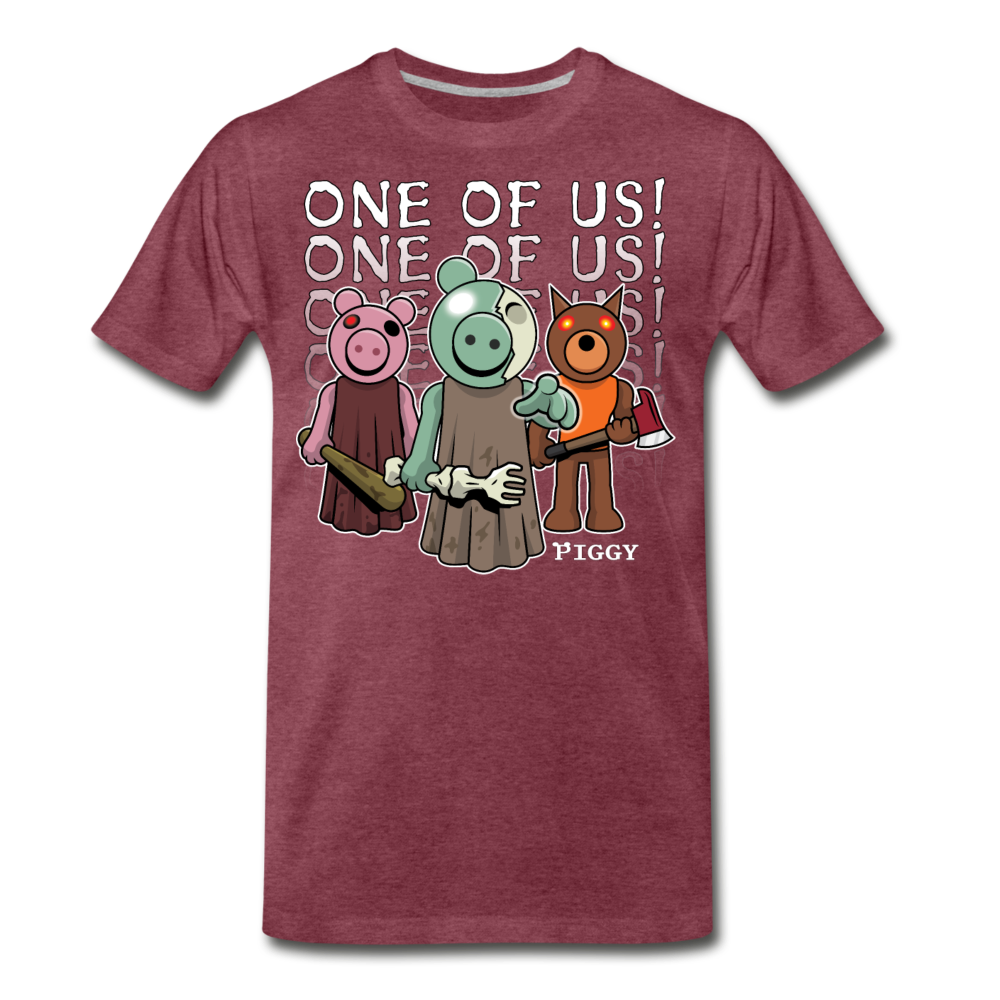 Piggy One Of Us! T-Shirt (Mens) - heather burgundy