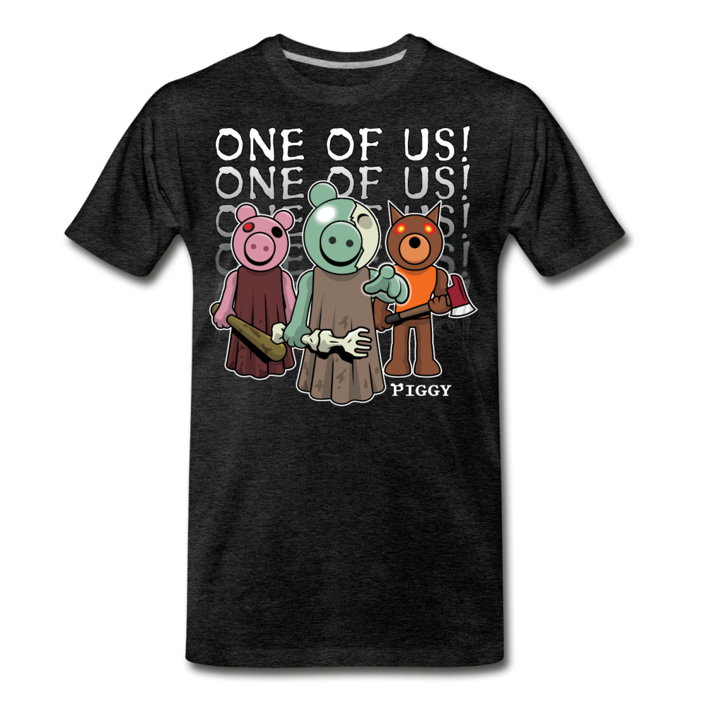Piggy One Of Us! T-Shirt (Mens) - charcoal gray
