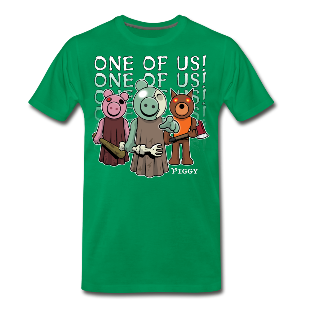 Piggy One Of Us! T-Shirt (Mens) - kelly green