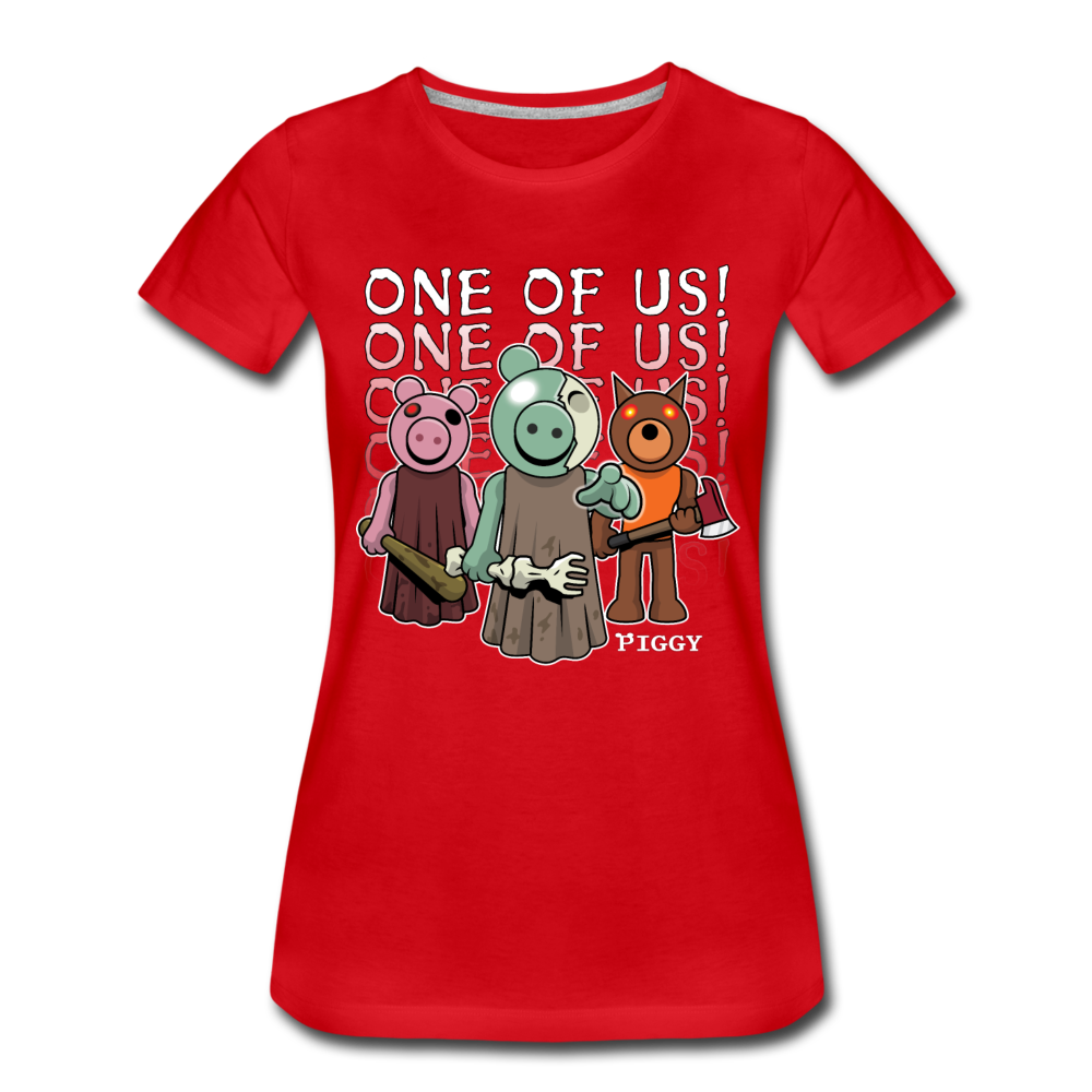 Piggy One Of Us! T-Shirt (Womens) - red