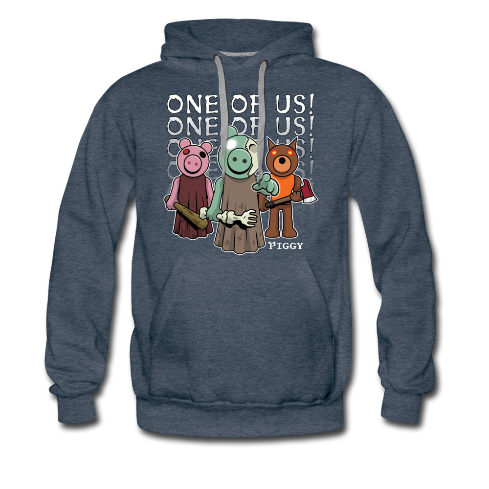 Piggy One Of Us! Hoodie (Mens) - heather denim