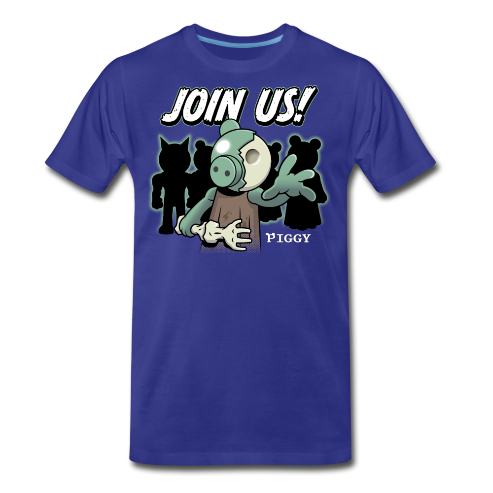 Piggy Join Us! T-Shirt (Mens) - royal blue