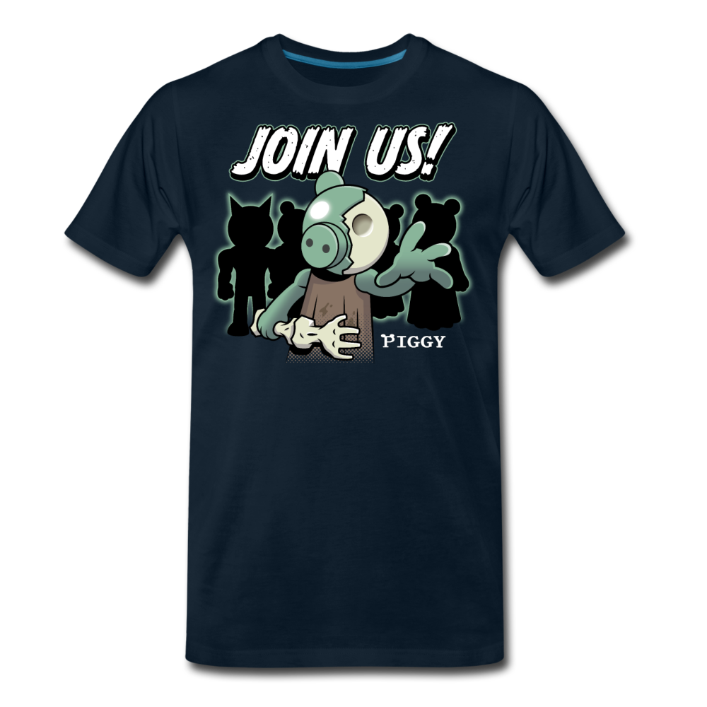 Piggy Join Us! T-Shirt (Mens) - deep navy