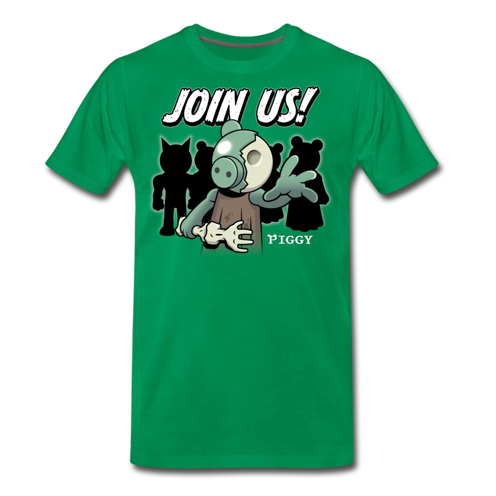 Piggy Join Us! T-Shirt (Mens) - kelly green