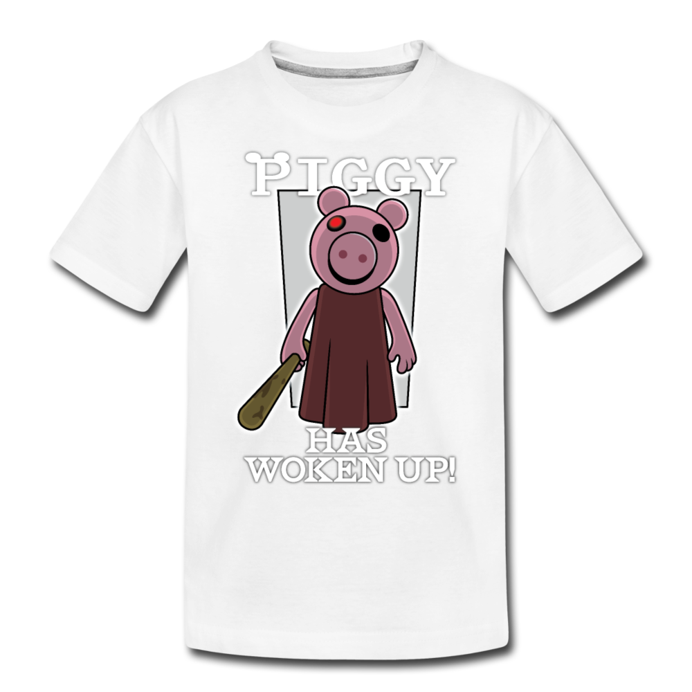 Piggy Has Woken Up T-Shirt - white