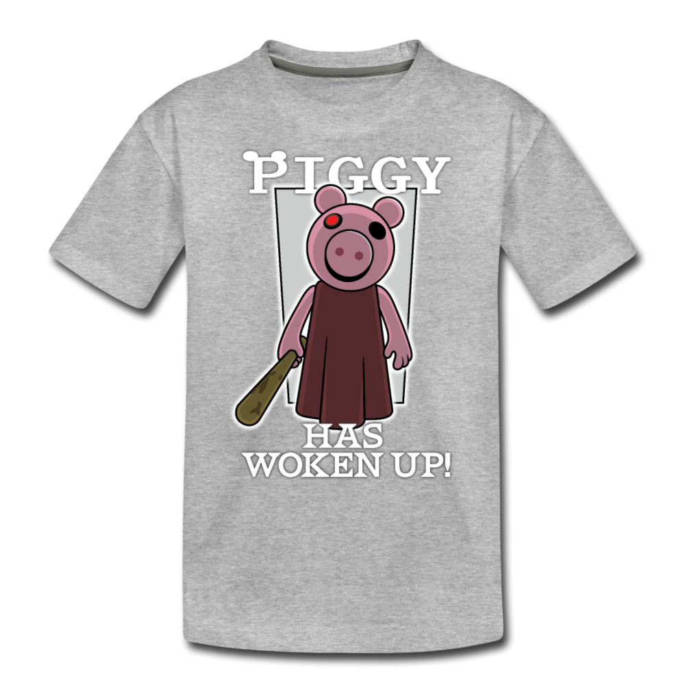 Piggy Has Woken Up T-Shirt - heather gray