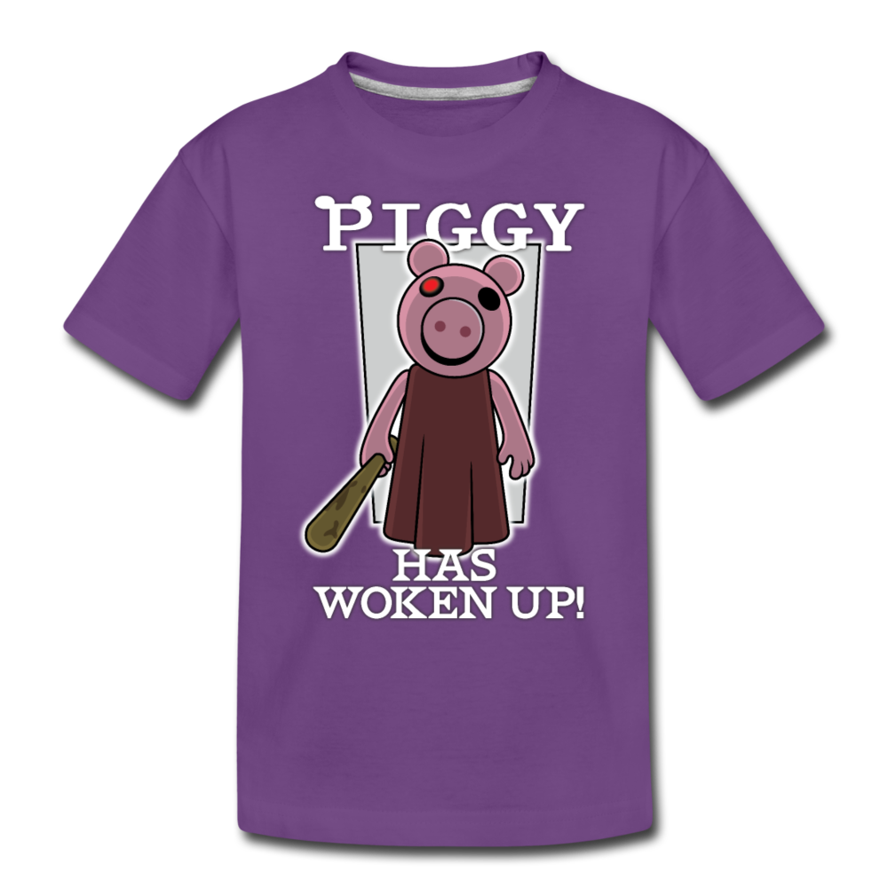 Piggy Has Woken Up T-Shirt - purple
