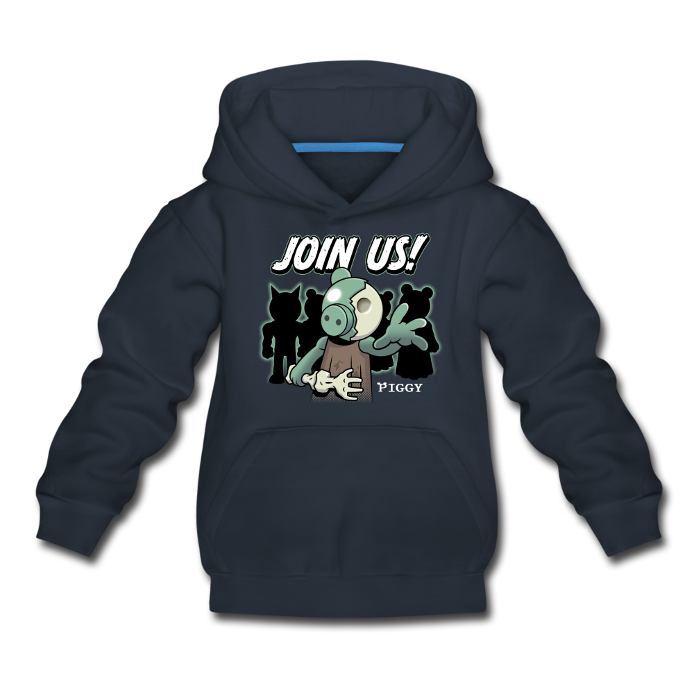 Piggy Join Us! Hoodie - navy