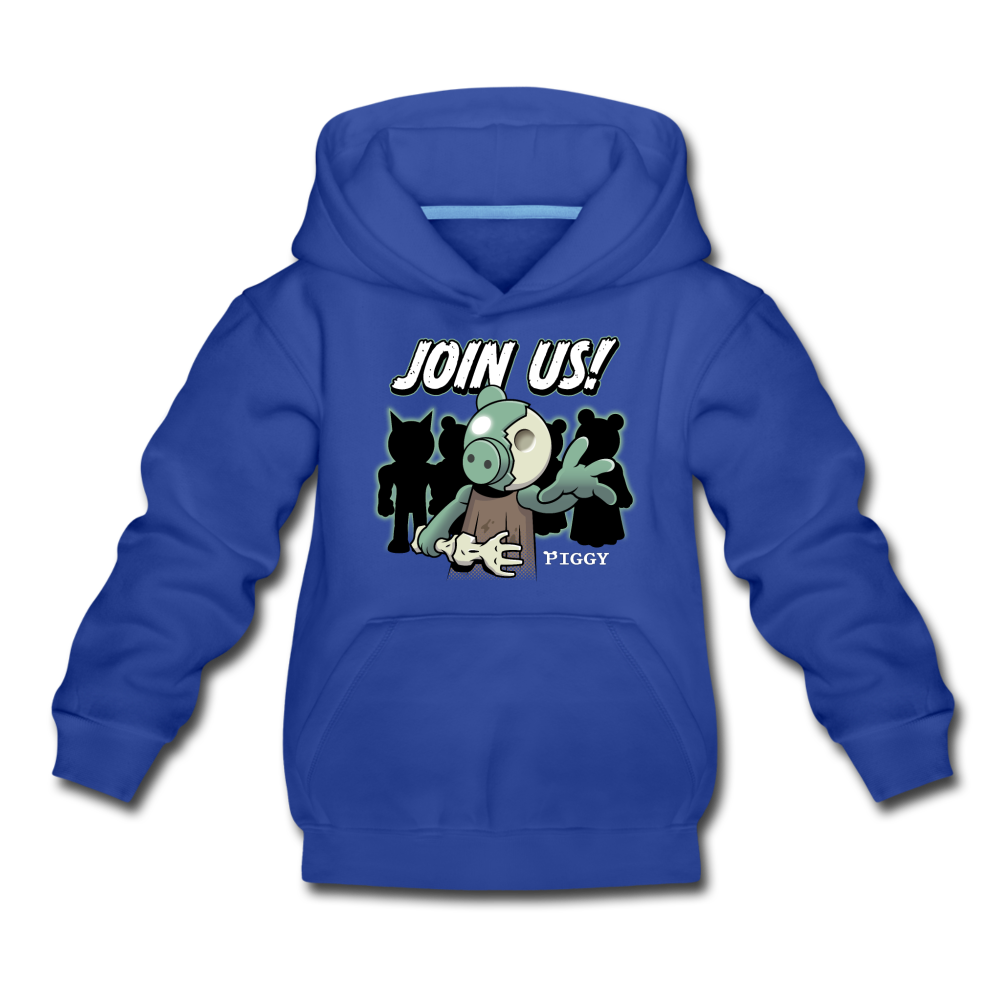 Piggy Join Us! Hoodie - royal blue