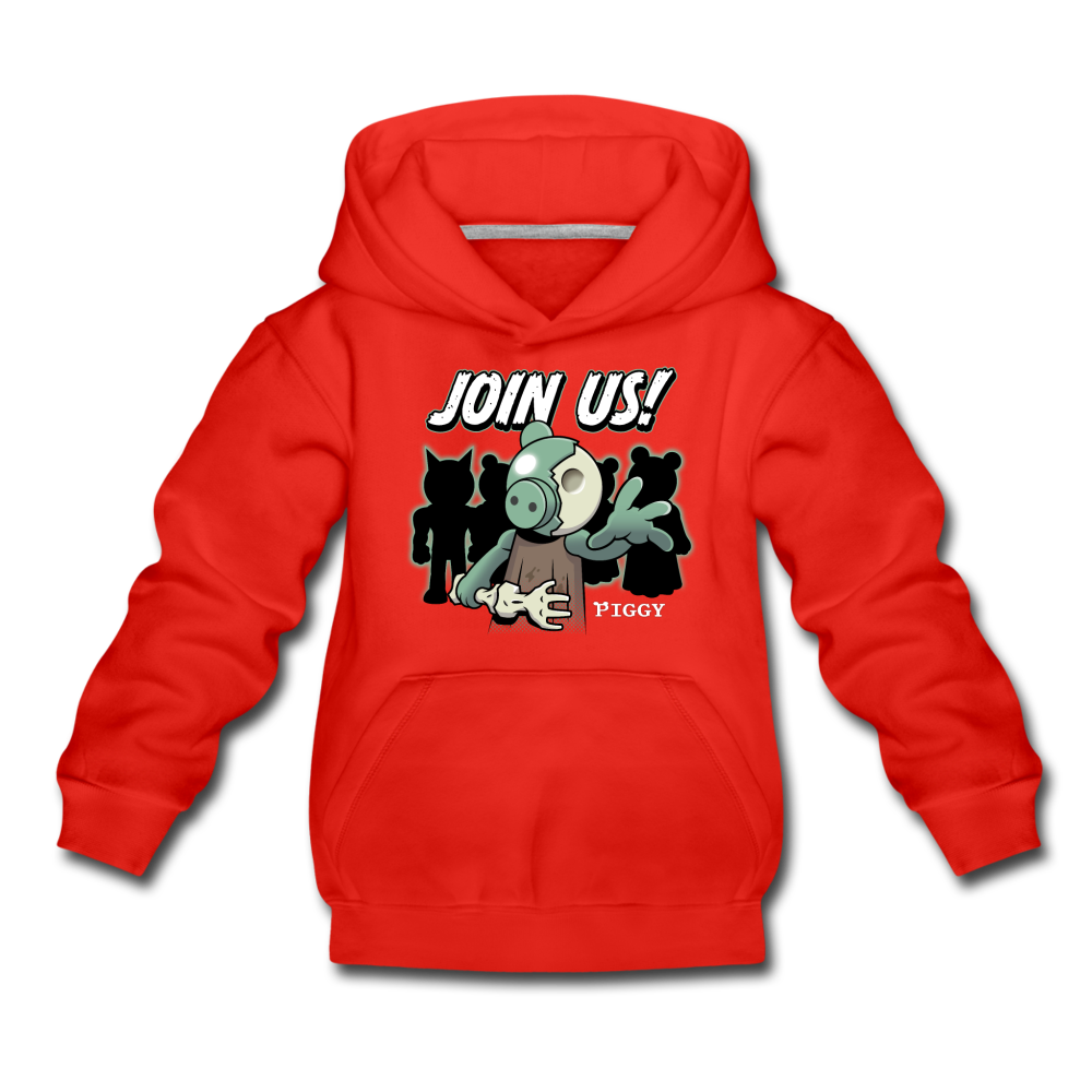 Piggy Join Us! Hoodie - red