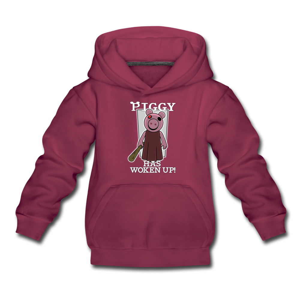 Piggy Has Woken Up Hoodie - burgundy