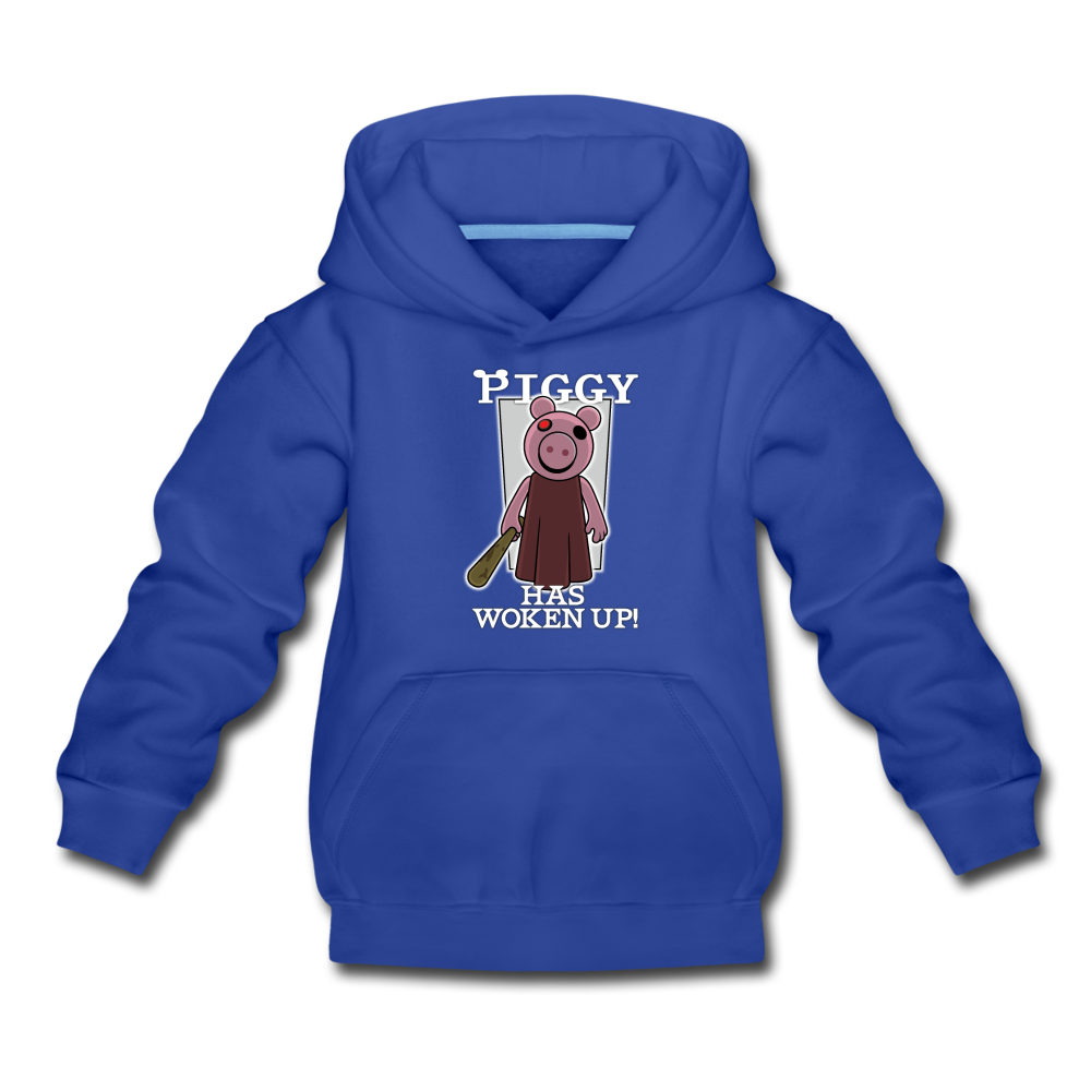 Piggy Has Woken Up Hoodie - royal blue