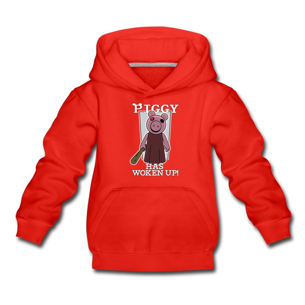 Piggy Has Woken Up Hoodie - red