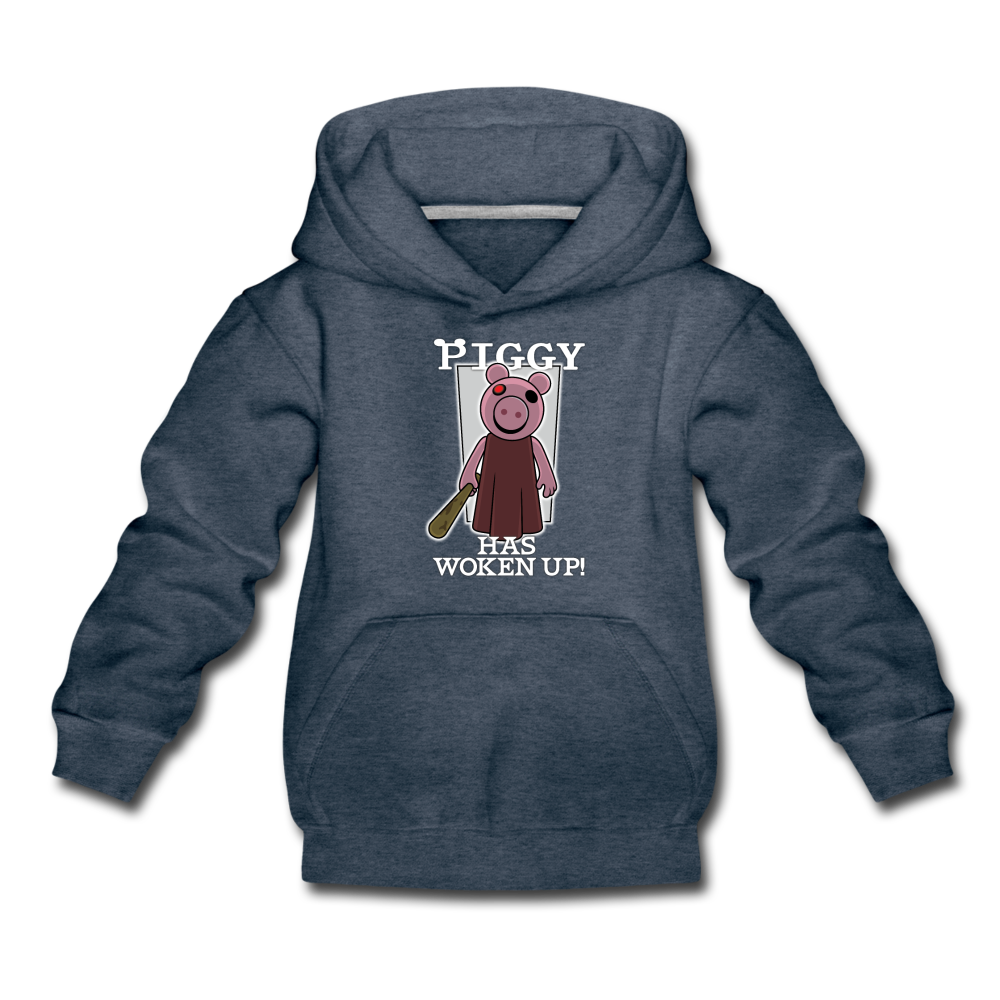 Piggy Has Woken Up Hoodie - heather denim