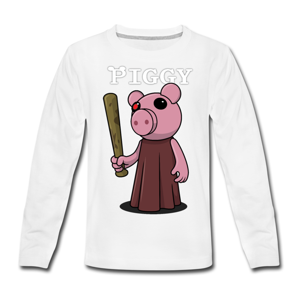 Piggy Logo Long Sleeve T-Shirt - white