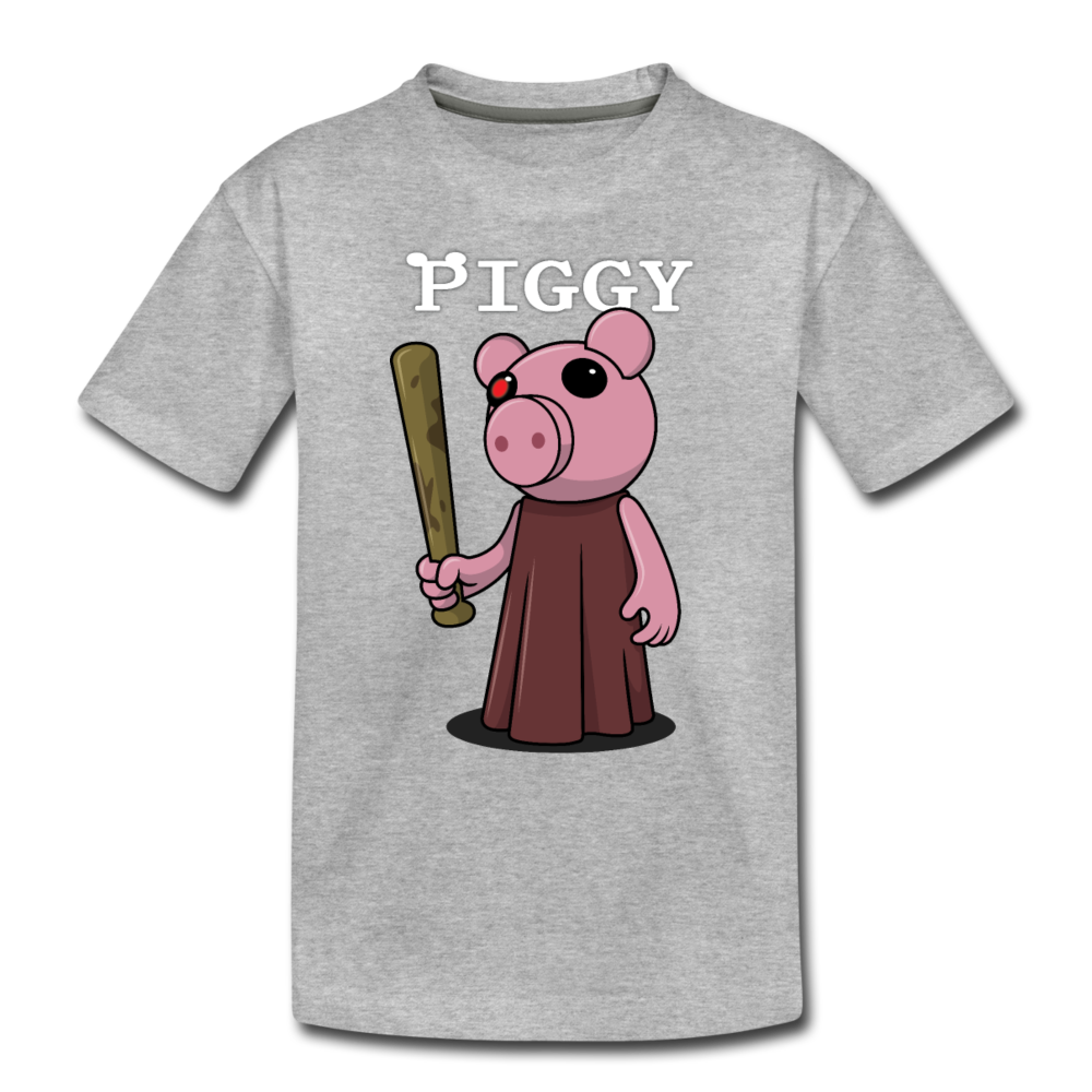 Piggy Logo T-Shirt - heather gray