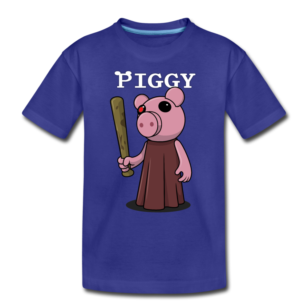 Piggy Logo T-Shirt - royal blue