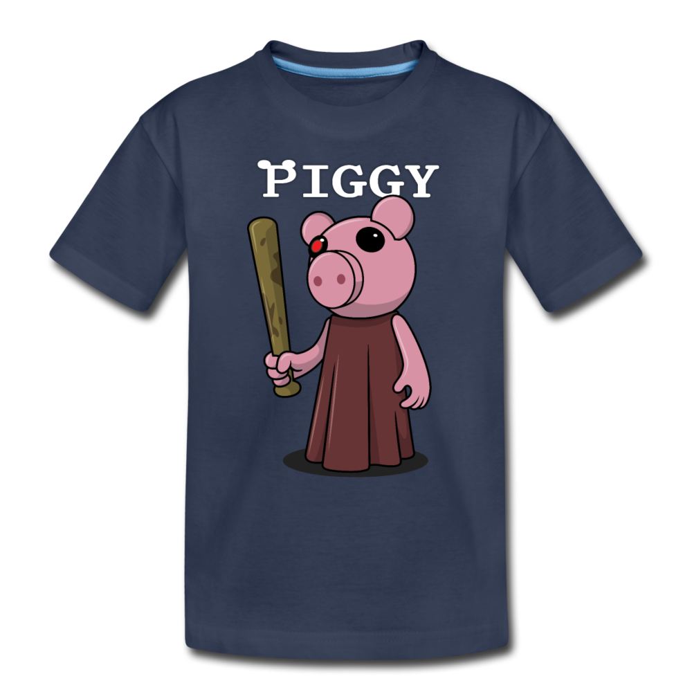 Piggy Logo T-Shirt - navy