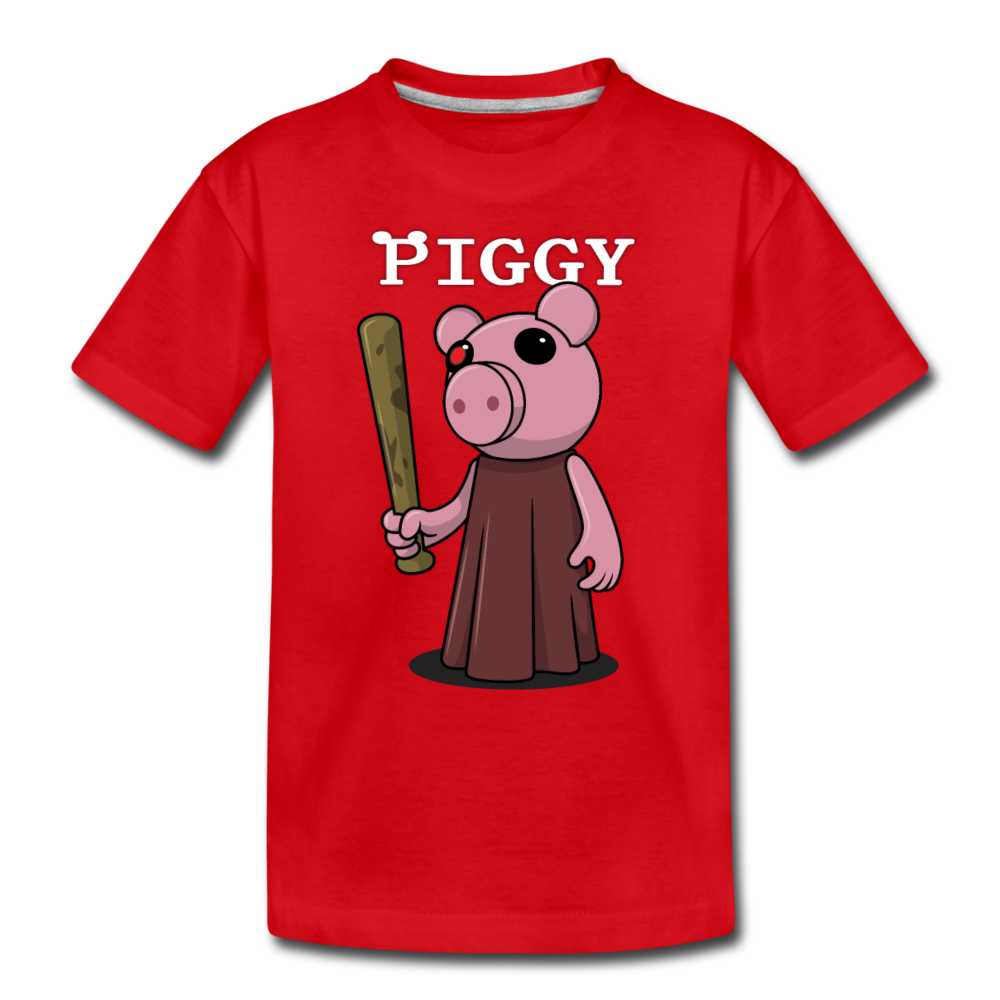 Piggy Logo T-Shirt - red