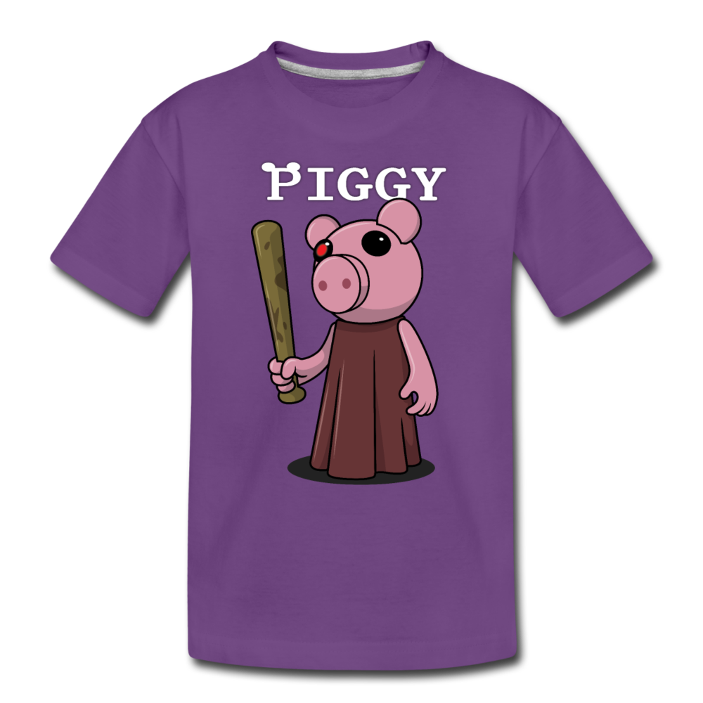 Piggy Logo T-Shirt - purple