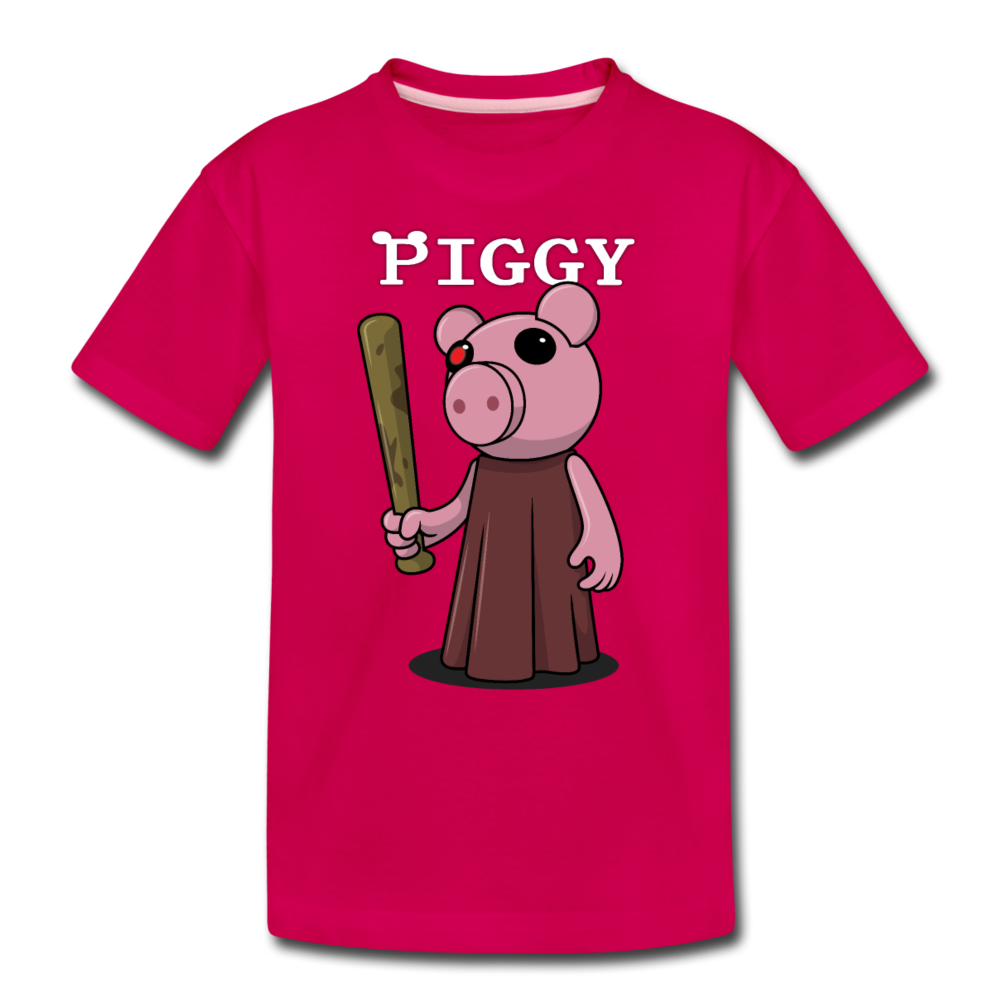 Piggy Logo T-Shirt - dark pink