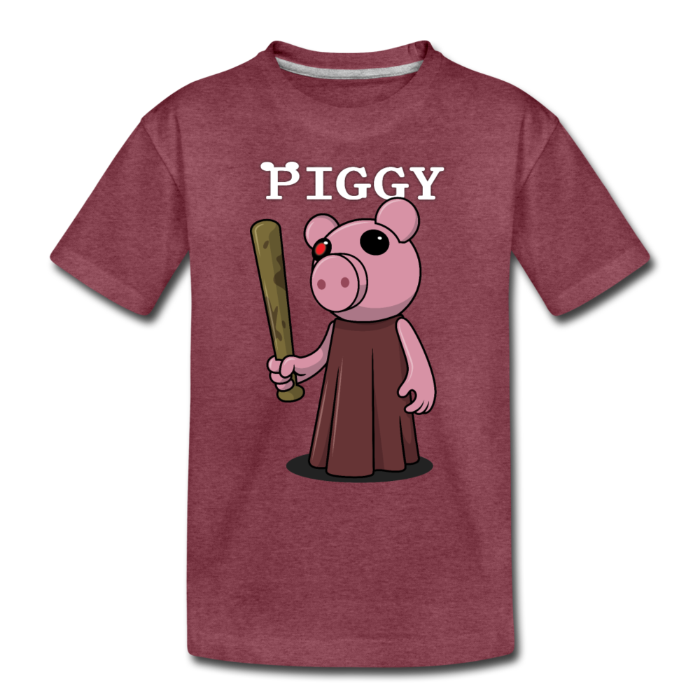 Piggy Logo T-Shirt - heather burgundy