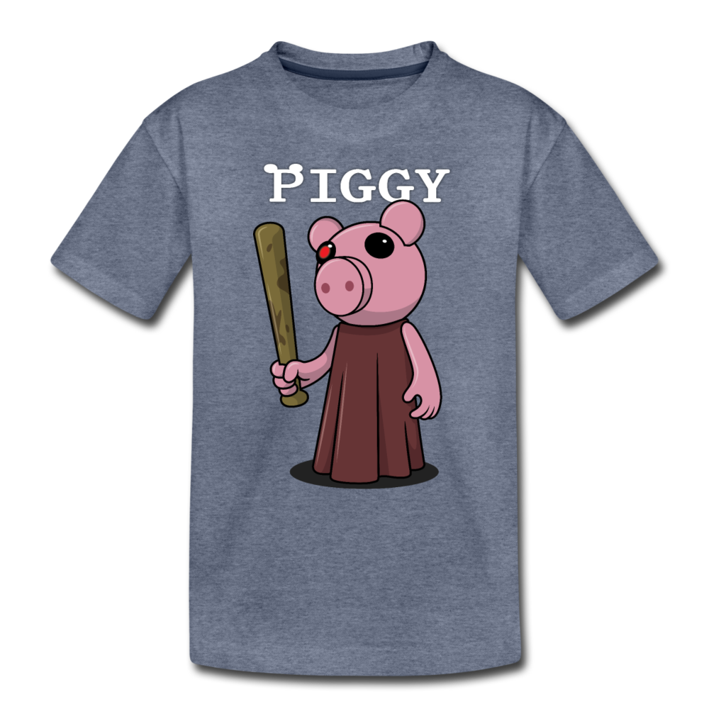Piggy Logo T-Shirt - heather blue