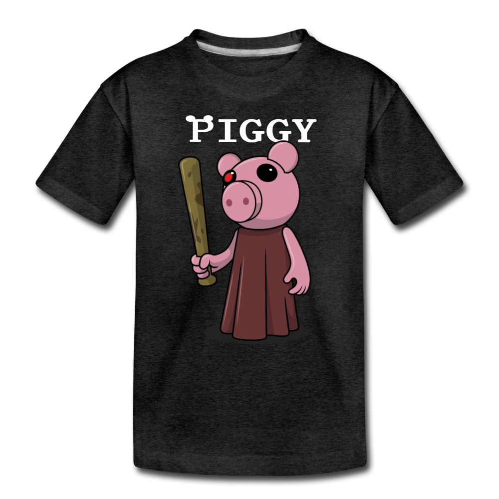 Piggy Logo T-Shirt - charcoal gray