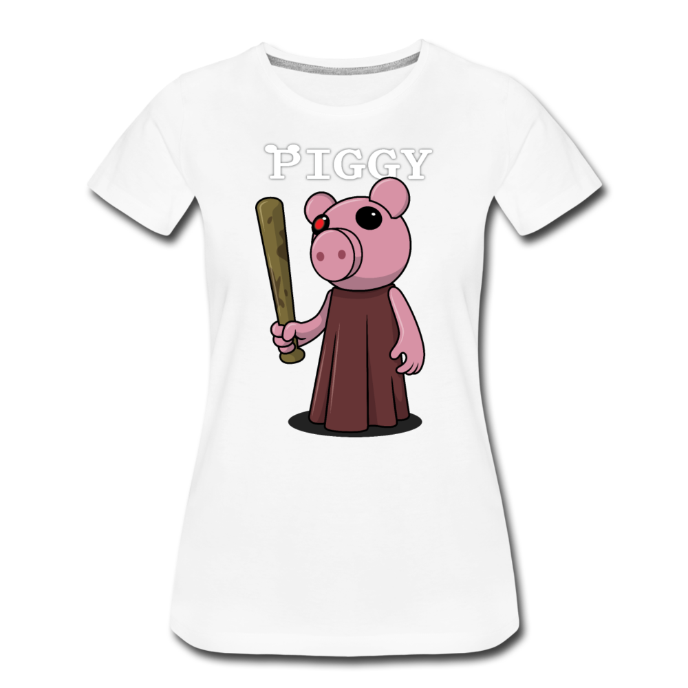 Piggy Logo T-Shirt (Womens) - white