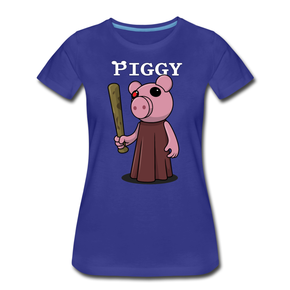 Piggy Logo T-Shirt (Womens) - royal blue