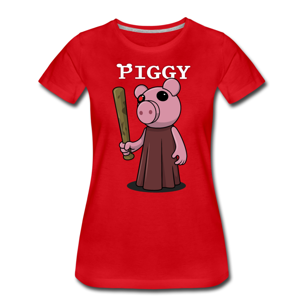 Piggy Logo T-Shirt (Womens) - red