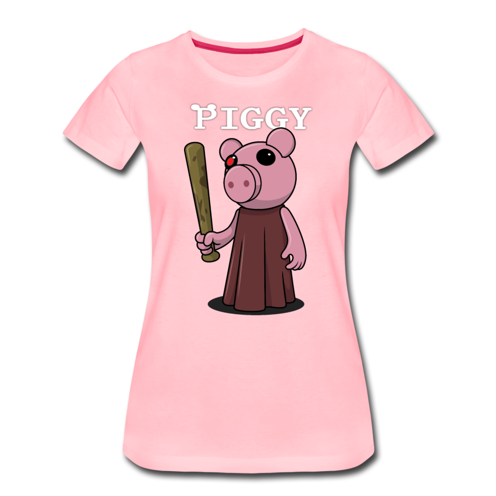 Piggy Logo T-Shirt (Womens) - pink