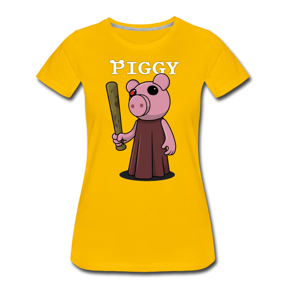 Piggy Logo T-Shirt (Womens) - sun yellow