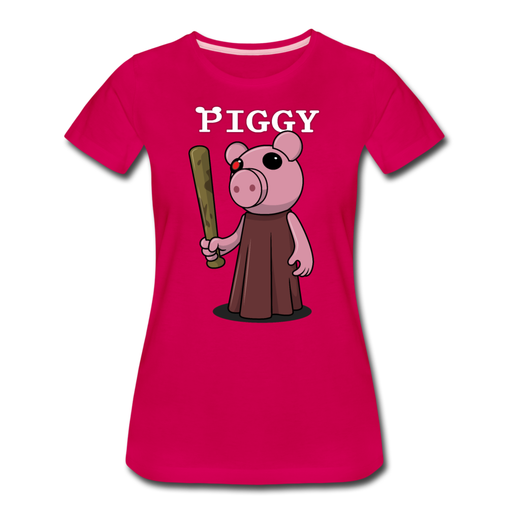 Piggy Logo T-Shirt (Womens) - dark pink