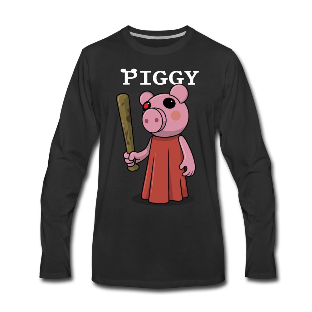 Piggy Logo Long Sleeve T-Shirt (Mens) - black