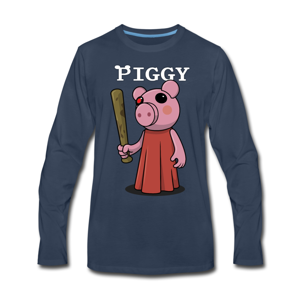 Piggy Logo Long Sleeve T-Shirt (Mens) - navy
