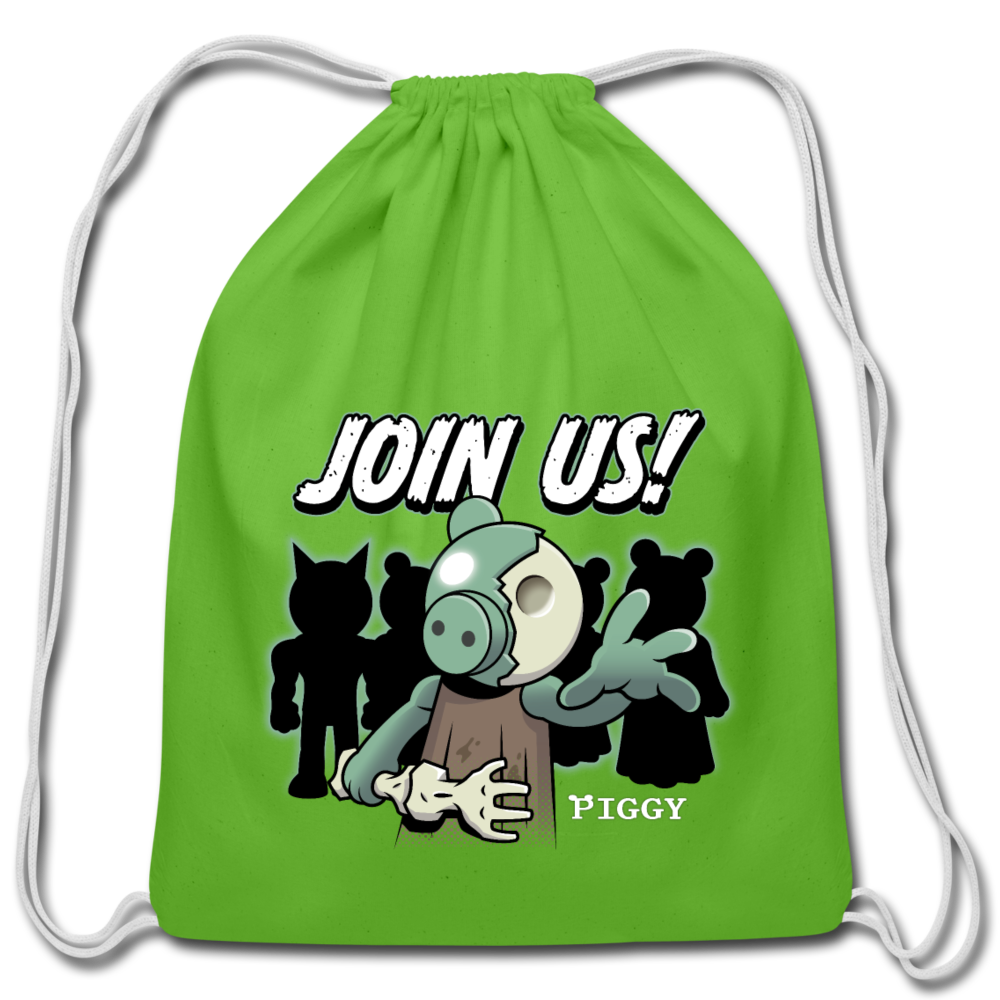 Piggy Join Us! Drawstring Bag - clover