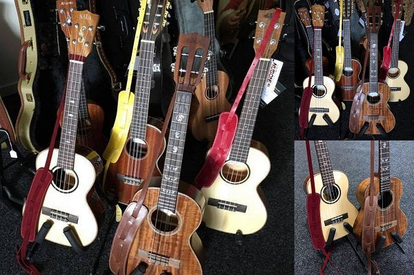 Ukuleles and leather straps for love my ukulele store testimonial from Maya Music, Queenstown, NZ