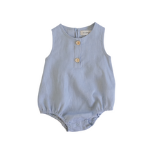 Load image into Gallery viewer, Linen Bubble Romper <br> Ocean