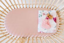 Load image into Gallery viewer, Bassinet Sheet/Change Pad Cover <br> Lullaby Pink