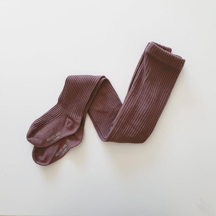 Callie Cotton Tights <br> Plum