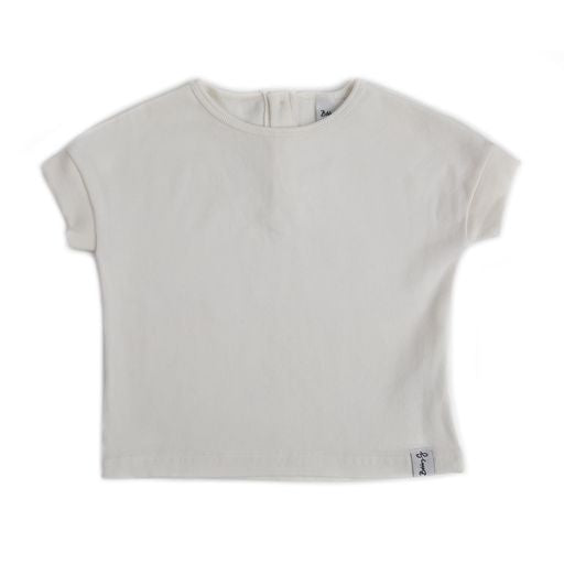 Spring Tee <br> White Ribbed